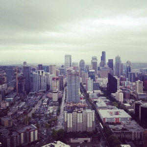 View from the observation deck of the Space Needle