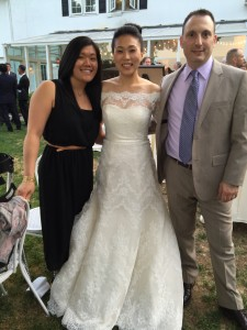 Us with the beautiful bride!