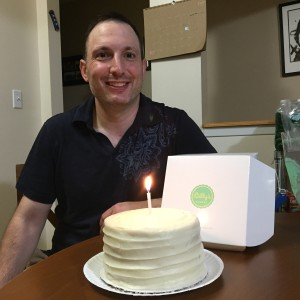 Ben and his Billy's cake!