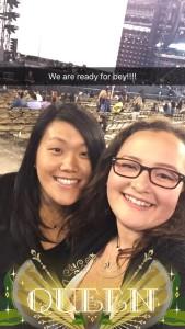 Me & Morgan (photo courtesy of her Snapchat)