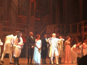 Cast of Hamilton, post show