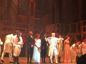 Cast of Hamilton, post show