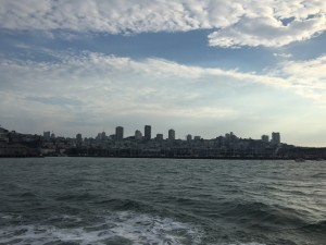 View of SF as we head to Alcatraz Island