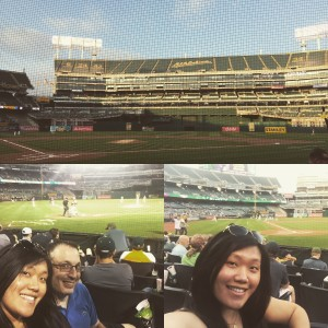 A's vs. Angels - behind home plate