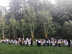 Beautiful setting for the reception!